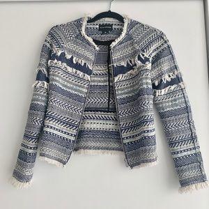 Club Monaco Chanel Style Tweed Crop Jacket 00